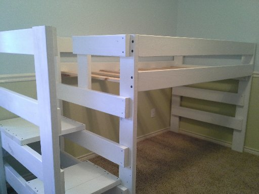 Twin Loft Custom Height With Side Stairs Dallas Bunk